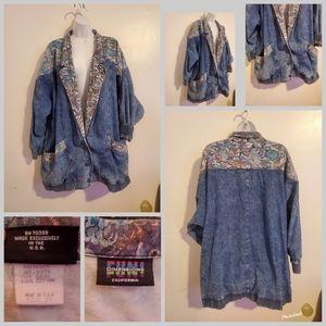 Vintage denim and floral jean jacket